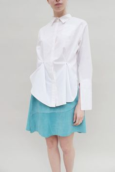 White Shirt With Removable Pleats – REJINAPYO