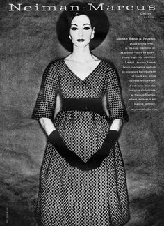 Neiman-Marcus 1962 - photo by Clifford Coffin 1950s Fashion, Vintage Fashion, Vintage Style, One Image, Vintage Vogue, Great Memories, Fashion History, Neiman Marcus, 1960s