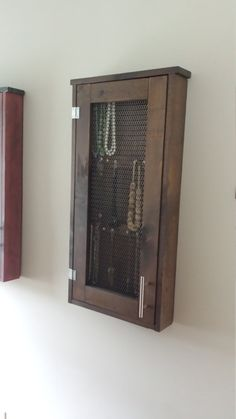 Wall Hanging Jewelry Cabinet By ForgottenOak On Etsy