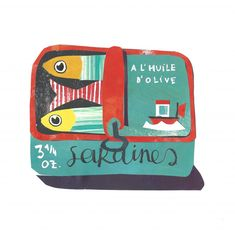 A Sardines Tin - Collage by Mireille Marchand