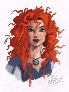 Merida Color Sketch by artist2point5.deviantart.com on @DeviantArt
