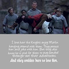 The Knights of Camelot and Merlin
