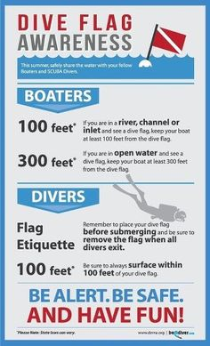Dive season is right around the corner, and DEMA.org is reminding boaters and divers to be safe and be aware of the diver down flag