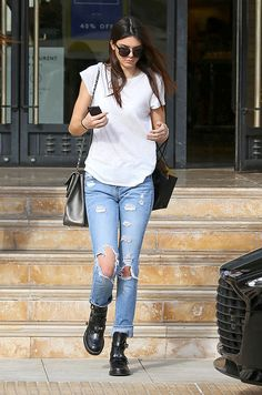 Kendall Jenner jean taille haute
