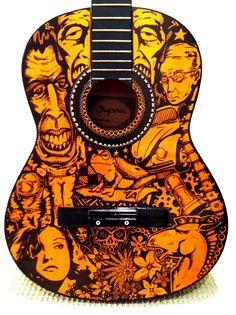 Sharpie Guitar ink pen Kelly parra crazy