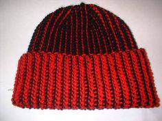 Reversible Tunisian Crochet Hat - CROCHET