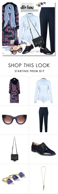 """""""Look the day"""" by vkmd ❤ liked on Polyvore featuring Peter Pilotto, Hallhuber, Thierry Lasry, Piazza Sempione, Chicnova Fashion, Calvin Klein, Noir Jewelry, Roberto Cavalli, Nordstrom and GetTheLook"""