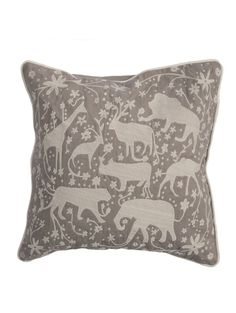 Roam Free Pillow, Taupe and Light Gray