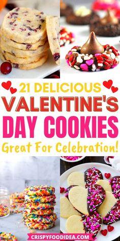 Valentines Day Food, Valentines Baking, Valentine Desserts, Cute Desserts, Valentine Treats, Holiday Treats, Delicious Desserts, Cookie Recipie, Fall Cookie Recipes
