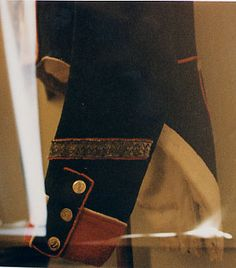 Cuff detail, Shako and Habit Veste, Model 1812, Sergeant of Fusiliers, 51st Line Infantry Regiment