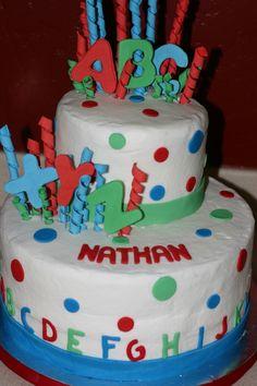 ABC Birthday cake