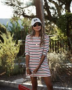Sporty vibes in the Marcel T-shirt dress.❤️ | shopsincerelyjules.com 03.11.17