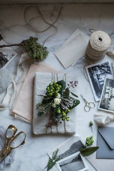 DIY floral gift toppers.