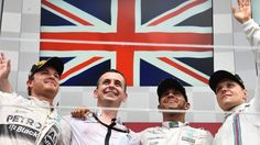 (L to R): Nico Rosberg (GER) Mercedes AMG F1, Lewis Hamilton (GBR) Mercedes AMG F1 and Valtteri Bottas (FIN) Williams celebrate on the Podium at Formula One World Championship, Rd7, Canadian Grand Prix, Race, Montreal, Canada, Sunday 7 June 2015. © Sutton Motorsport Images