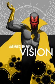 Avengers Origins: Vision. Would be cool if he's in Avengers 2, since they're bringing Ultron and Scarlet Witch into it.   Edit: Paul Bettany (Jarvis) has just been confirmed to play Vision in Avengers 2! Yes!!!