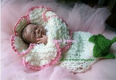 Crocheted Flower Baby Cocoons Are Adorable