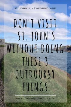 Don't Visit St. John's Without Doing these Three Outdoorsy Things Newfoundland Canada, Newfoundland And Labrador, Voyage Canada, Australia Tourism, Nature Sauvage, East Coast Road Trip, Atlantic Canada, Canadian Travel, Airlie Beach