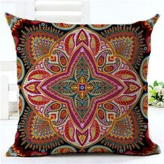 Fashion Bohemian Style paisley Printed Houseware Decor Cojines Printed Sofa Pillow Throw Linen Cotton Pillow Cushion Almofadas