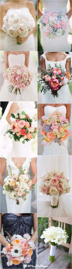 100 Romantic Spring & Summer Wedding Bouquets / http://www.himisspuff.com/spring-summer-wedding-bouquets/