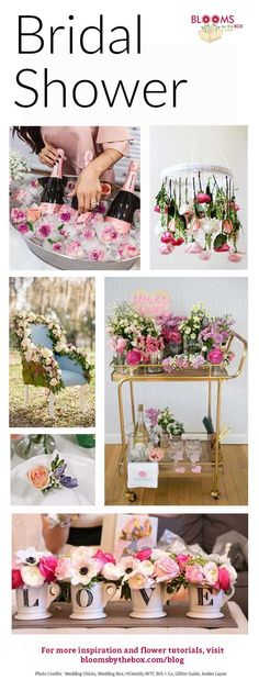 Whether you opt for a brunch, tea party or other theme, there are a lot of ways to ensure the event is as unique, beautiful and fun as the bride it's being hosted for! Here are a few ways you can incorporate fun flowers and beautiful blooms in your bridal Unique Bridal Shower, Tea Party Bridal Shower, Bridal Shower Favors, Bridal Shower Chair, Bridal Shower Flowers, Tea Party Wedding, Flower Shower, Wedding Favors, Baby Shower