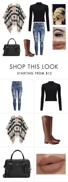"""Oh, Jeez."" by dreaming-of-a-better-tomorrow ❤ liked on Polyvore featuring H&M, Miss Selfridge, Burberry, Tory Burch and Kate Spade"