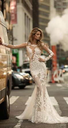 Berta Bridal Wedding Dresses 2017 / http://www.deerpearlflowers.com/berta-fw-2017-wedding-dresses/4/