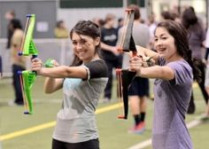 "More than 100 teens participated in a Lackawanna County Library System Hunger Games event at Riverfront Sports Complex on March 24. Kids got to ""train for the games"" by competing in tracker jacker tag, answering trivia questions, identifying plants, and more!"