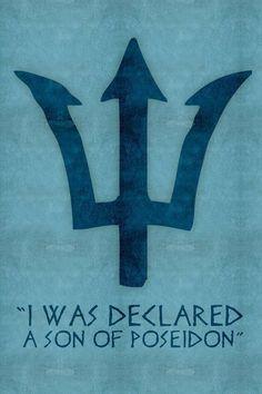 Percy Jackson Blue Trident Symbol