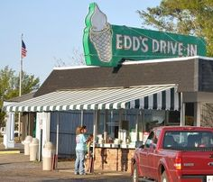 Edd's in Pascagoula - actually, I think it's in Moss Point - hamburger is good, fries make the stop worth it.