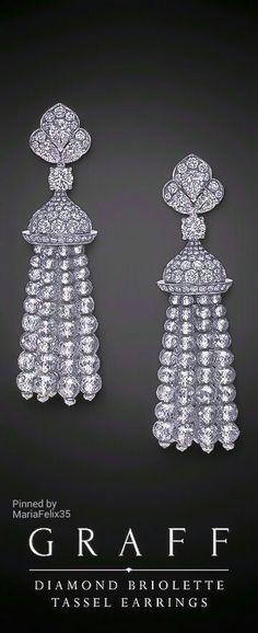 Graff Diamond Briolette Tassel Earrings