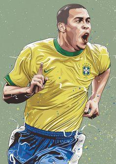 Dreams on Behance Soccer Art, Soccer Guys, Soccer Poster, Soccer Players, Brazil Football Team, World Football, Football And Basketball, Soccer Drawing, Legends Football