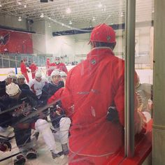 Photo by washingtoncaps - #Caps head coach Adam Oates diagrams the first drill of practice at #CapsDevCamp.