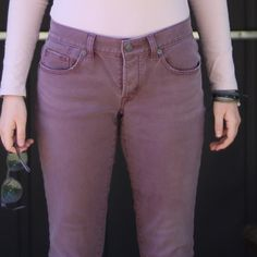 Purple Boyfriend Fit Loft Pants These jeans are in great condition. Bought them from another posher- like new!! Xoxo LOFT Jeans Boyfriend
