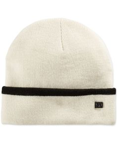 Sean John Flat Knit Tipped Cuffed Beanie