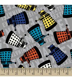 Doctor Who Dalek Cotton FabricDoctor Who Dalek Cotton Fabric,