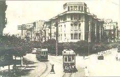 Θεσσαλονίκη, δεκαετία 1950. Το τραμ, στην γωνία Τσιμισκή και Διαγωνίου.
