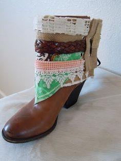 Gretchen   Boho Accents, Ankle Art, Boho Boot Accents -  www.bohoaccents.com