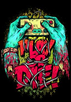 Play or Die! #game #illustration #zombie