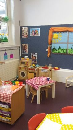 Cup of tea anyone? Eyfs Classroom, Classroom Layout, Toddler Classroom, Classroom Design, Classroom Decor, Preschool Kitchen Center, Preschool Rooms, Craft Activities For Kids, Play Corner