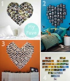 Clo By Clau!: Inspiration: Heart Photo Display