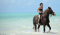 She's a natural:As a child Kendall wanted to be either a vet or a professional horse-rider