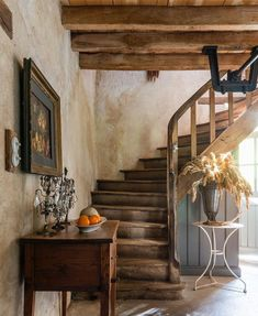 My French Country Home My French Country Home, Country House Interior, French Country House, Rustic Staircase, Staircase Design, English Country Cottages, Cottage Stairs, Vintage Cottage, Minimal Decor
