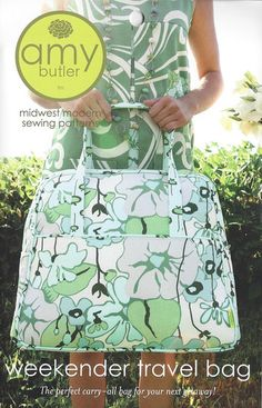 Weekender Travel Bag sewing pattern - I want to make this so bad!