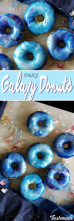 The simplicity and yumminess of these pretty doughnuts are out of this world.