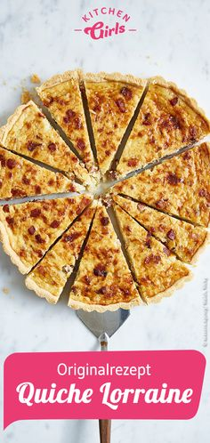 Original recipe: Quiche Lorraine recipe Related posts:Angrillen: The favorite recipes! Best Quiche Recipes, Tart Recipes, Breakfast Recipes, Cooking Recipes, Quiche Lorraine Receta Original, Vegan Pie, Barbecue Recipes, Original Recipe, Deep Dish