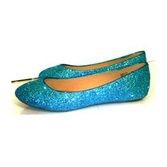 8135431a194 Women s Sparkly Turquoise Blue Glitter BALLET Flats bride wedding shoes prom