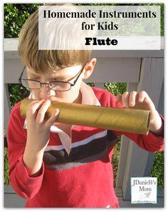 Homemade Instruments for Kids- Flute