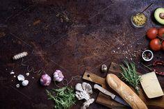 Vegan sandwich ingredients. by Iuliia Leonova on @creativemarket