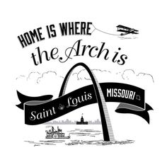 Show your love for St. Louis with our version of Home Is Where The Heart Is. Now in Black and White!    12x12  Printed on matte E-Surface Photo
