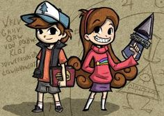 Wind Waker Style Dipper and Mabel by Bradshavius